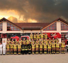 Gruppenfoto der Feuerwehr Winnweiler aus dem Jahr 2016